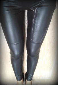 Leder Leggings!  How cool (how hot!) are they!!  From a fashionably chic shop in Switzerland.